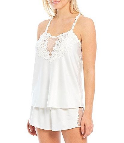 Flora Nikrooz Showstopper Charmeuse & Lace Shorty Coordinating Pajama Set
