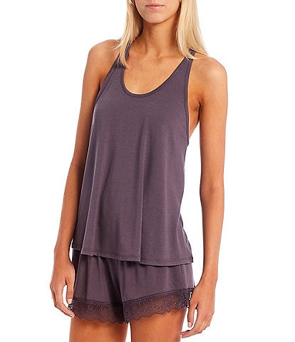 Flora Nikrooz Stephanie Sleeveless Solid Knit Scoop Neck Coordinating Camisole Set