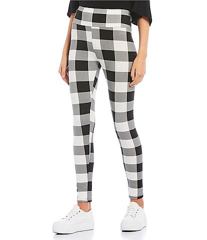 Fornia Buffalo Check Brushed High Rise Leggings