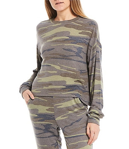 Fornia Camo Lounge Long Sleeve Pullover