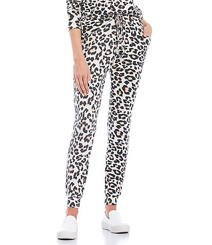 Fornia Coordinating Leopard Print Lounge Jogger Pants