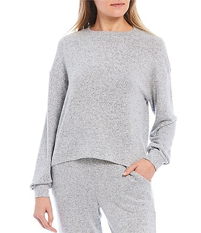 Fornia Coordinating Lounge Melange Long Sleeve Pullover