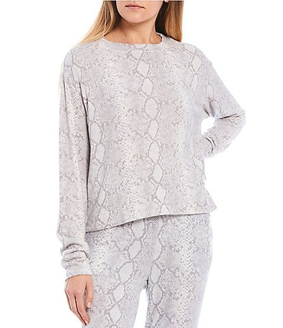 Fornia Coordinating Snake Lounge Long Sleeve Pullover