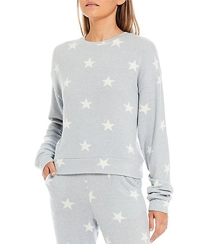 Fornia Coordinating Star Print Lounge Long Sleeve Pullover