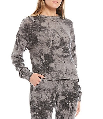 Fornia Coordinating Tie-Dye Lounge Long Sleeve Pullover