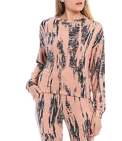Fornia Tie-Dye Lounge Long Sleeve Pullover