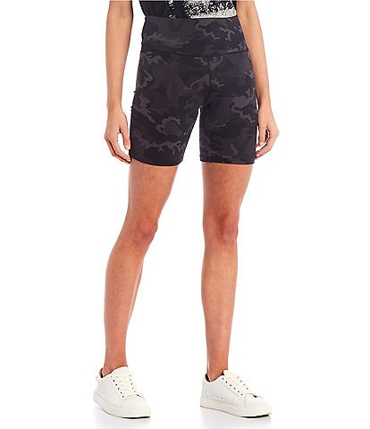 Fornia High Rise Camo Biker Shorts