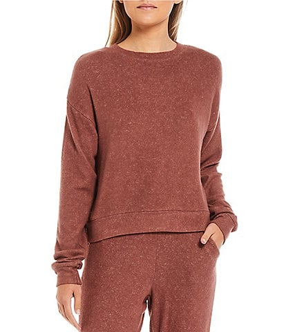Fornia Coordinating Long Sleeve Pullover Lounge Top