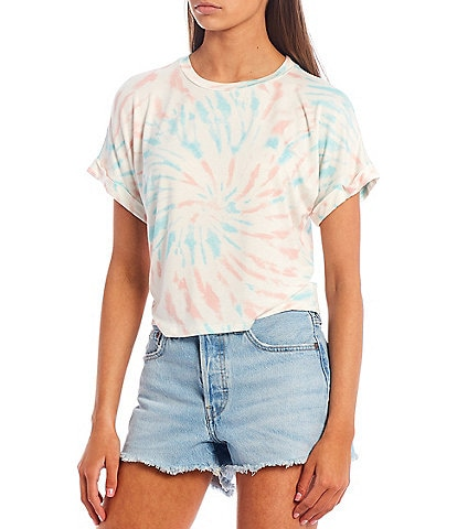 Fornia Tie-Dye Rolled Cuff Short Sleeve Tee