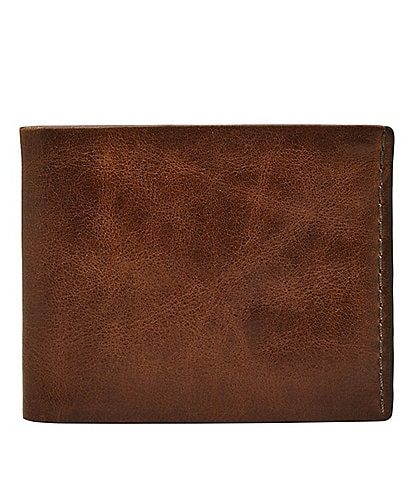 Fossil Beck Leather Bifold Wallet with Flip ID