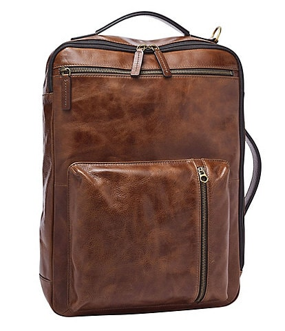 Fossil Buckner Convertible Backpack Leather Briefcase