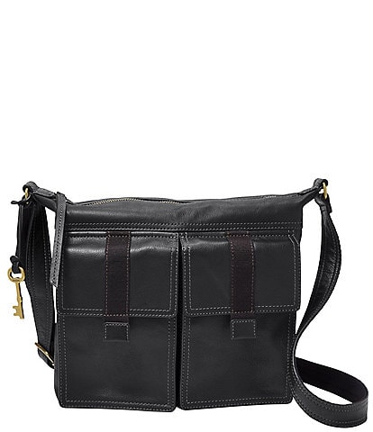 Fossil Cargo Leather Zipper Crossbody Bag