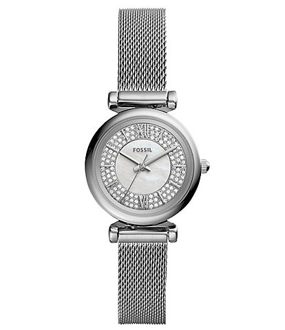 Fossil Carlie Mini Three-Hand Stainless Steel Watch
