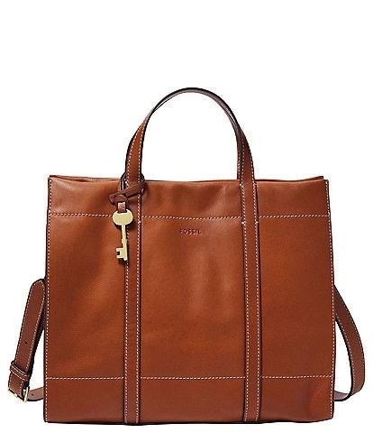 Fossil Carmen Leather Key Shopper Tote Bag