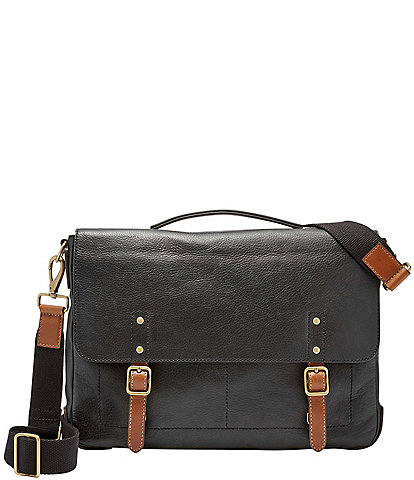 328ffc1edc67 Fossil Defender Leather Laptop Briefcase