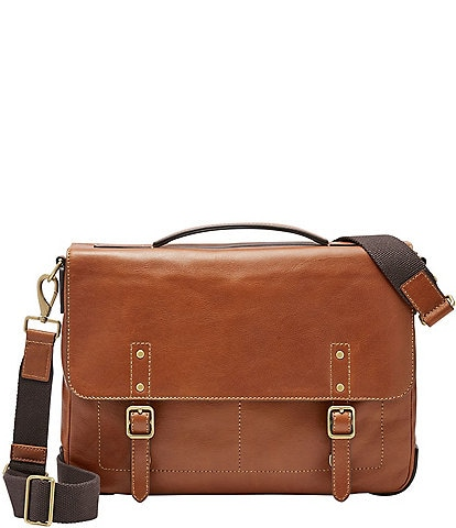 Fossil Defender Leather Laptop Briefcase