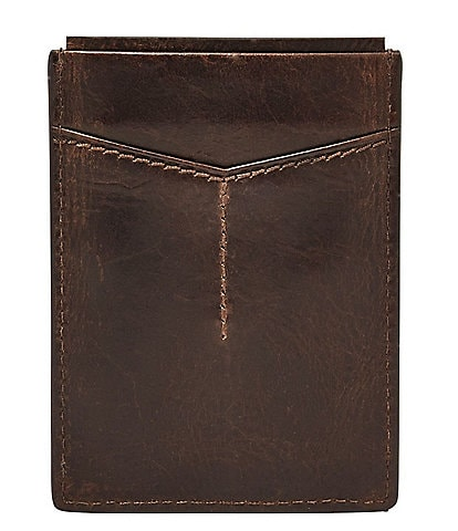 f49a8afea9f8 Fossil Derrick Leather RFID-Blocking Magnetic Card Case
