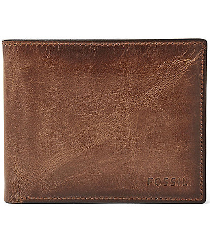 Fossil Derrick Leather RFID-Blocking Passcase