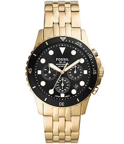 Fossil FB-01 Chronograph Gold-Tone Stainless Steel Watch