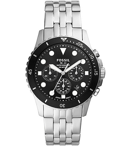 Fossil FB-01 Chronograph Stainless Steel Watch