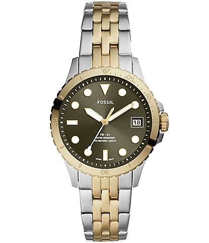 Fossil FB-01 Three-Hand Date Stainless Steel Bracelet Watch