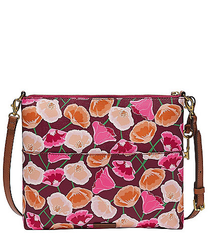 Fossil Fiona Floral Print Large Crossbody Bag