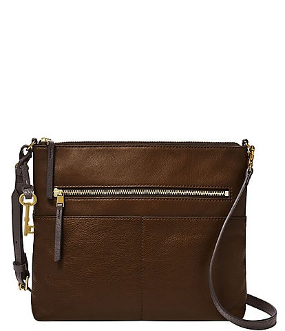 Fossil Fiona Large Leather Crossbody Bag
