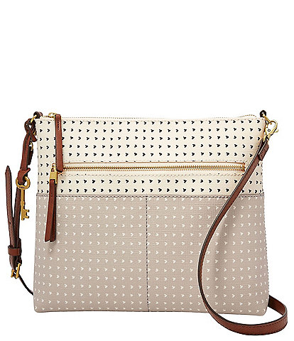 Fossil Fiona Printed Large Colorblock Crossbody Bag