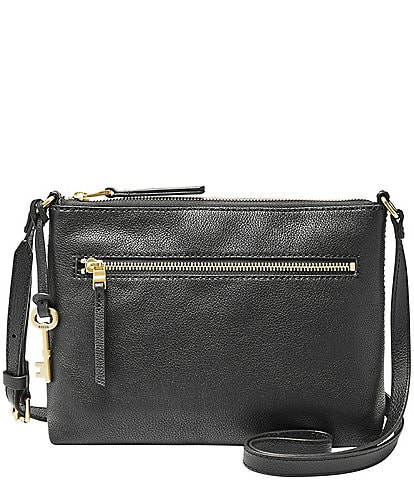 Fossil Fiona Leather Small Gold Hardware Crossbody Bag