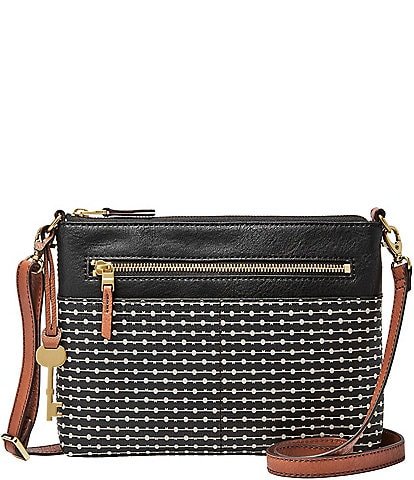 Fossil Fiona Striped Small Colorblock Crossbody Bag