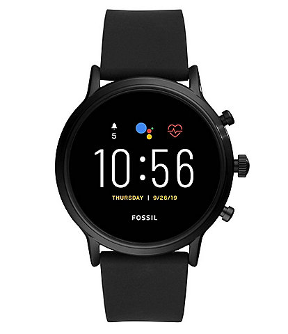 Fossil Gen 5 The Carlyle HR Black Silicone Smartwatch