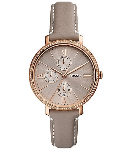 Fossil Jacqueline Multifunction Gray Leather Watch