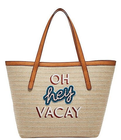 Fossil Jeanne #double;Oh Hey Vacay#double; Straw Tote