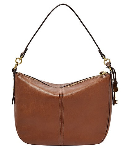 Fossil Jolie Zip Top Key Leather Crossbody Bag