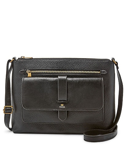 Fossil Kinley Leather Zip Crossbody Bag