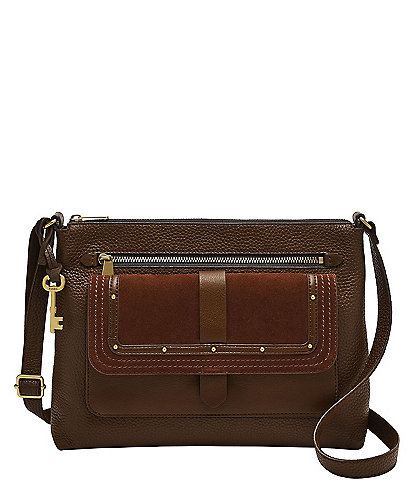 Fossil Kinley Textured Leather Crossbody Bag