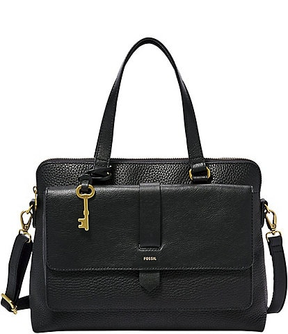 Fossil Kinley Leather Satchel Bag