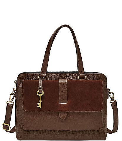 Fossil Kinley Leather Satchel Crossbody Bag