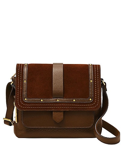 Fossil Kinley Small Leather Flap Crossbody Bag