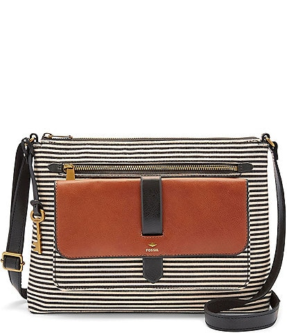 Fossil Kinley Striped Cross Body Bag