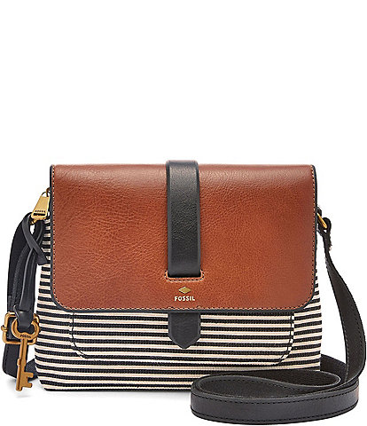 76bc6efcb759 Fossil Kinley Striped Small Cross-Body Colorblock Bag