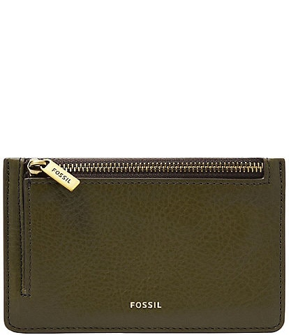 Fossil Logan Eco Leather Zip Card Case