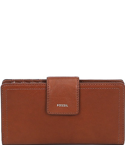 Fossil Logan RFID Leather Tab Bifold Wallet