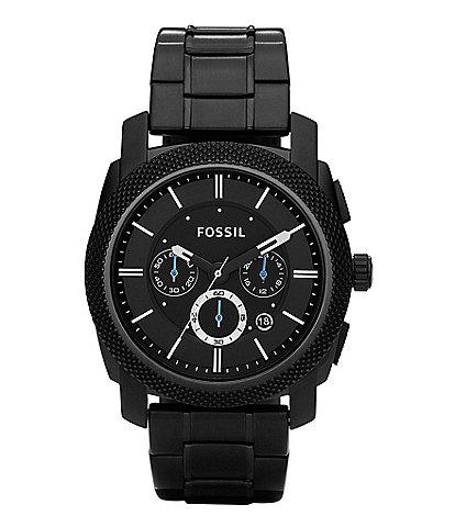 Fossil Machine Black-Dial Chronograph Watch