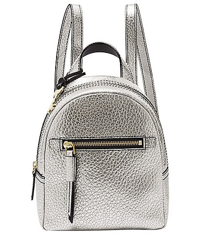 Fossil Megan Metallic Leather Mini Backpack