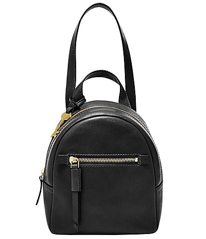 Fossil Megan Mini Leather Zipper Backpack