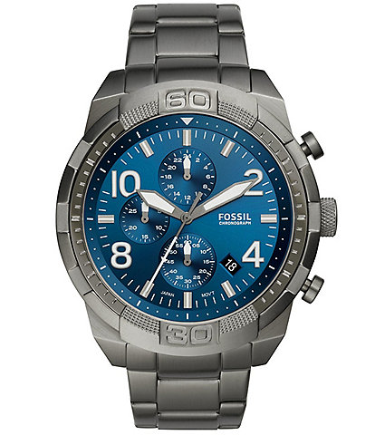 Fossil Men's Bronson Chronograph Smoke Stainless Steel Watch