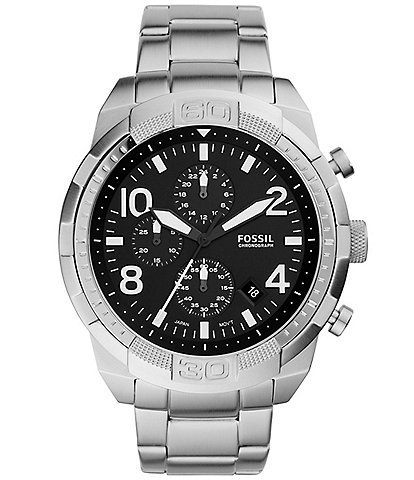 Fossil Men's Bronson Chronograph Stainless Steel Watch