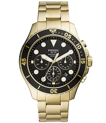 Fossil Men's FB-03 Chronograph Gold-Tone Stainless Steel Watch
