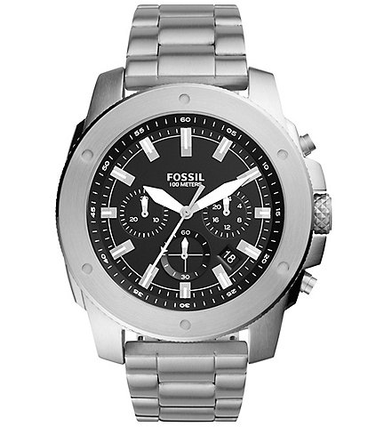 Fossil Men's Mega Machine Chronograph Stainless Steel Watch